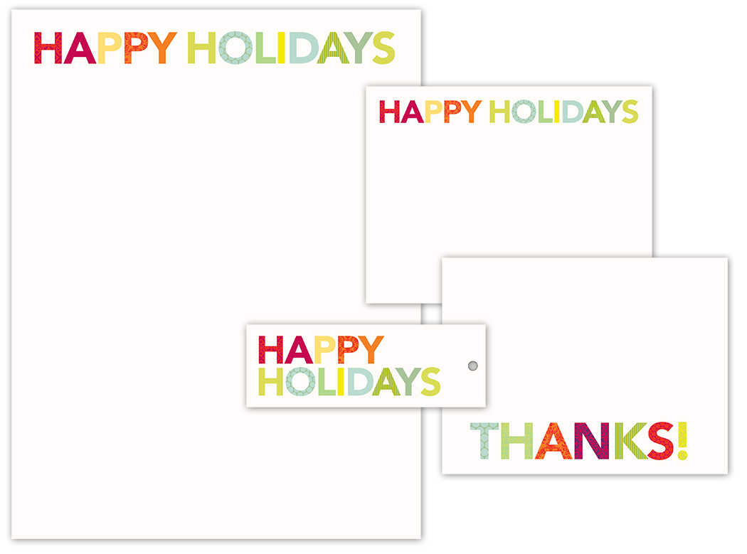 """Crane & Co. boxed stationery, """"Holiday Brights"""""""