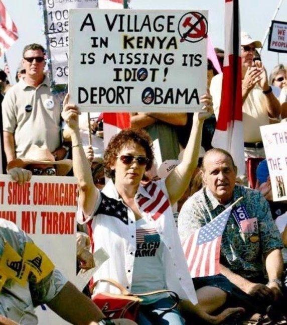 Obama protesters in 2008