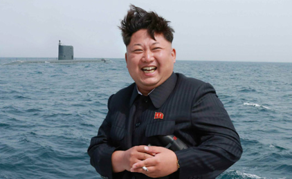 KIM JONG UN, STOKED AS ALL HELL