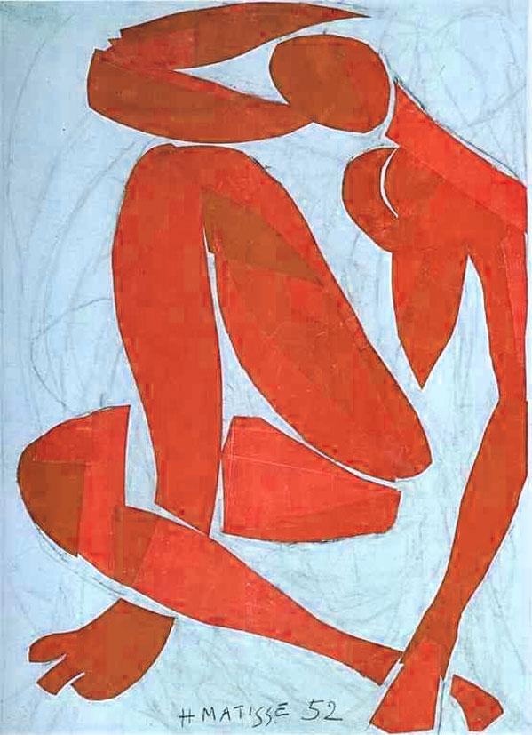 Artist: Henri Matisse | Blue Nude IV, 1952