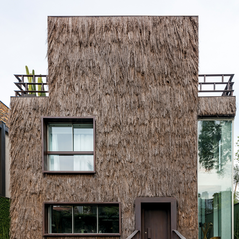 Campana brothers use palm fibre to not only give unique texture to a Sao Paulo house, but to also keep it cool..jpg