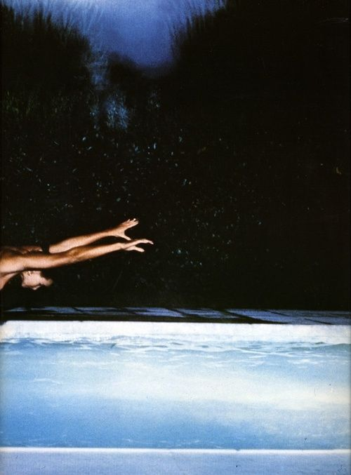 Diving into the weekend uninhibited. - Sometimes it's the only way. -tM