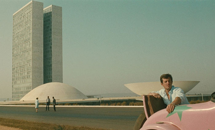 Cinematic Architecture. - I always pay attention to the architectural landscape in films. The architecture in L'homme de Rio is simplistic, phallic, feminine, and sexy. It's architecture porn. -tM