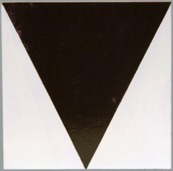 Artist: John Nixon | Brown Triangle on White, 1993