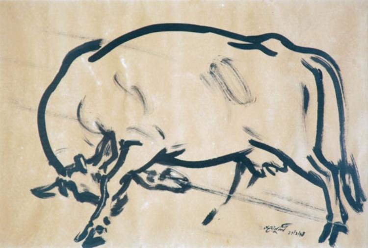 Artist: Zainul Abedin   Rebellion, 1974