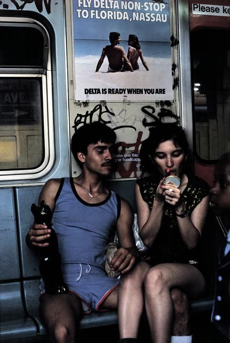 Photography: Bruce Davidson | Summer Love, NYC Subway, 1980's