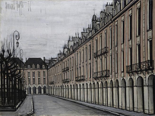 Artist: Bernard Buffet | Place des Vosges, 1956