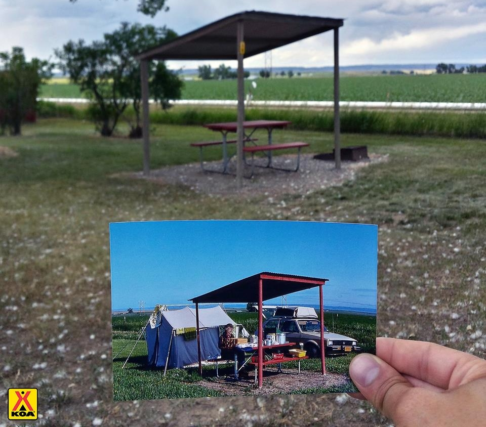 Partnership with @SayHellotoAmerica on Instagram to camp at the same KOA campgrounds his grandparents did in the 1970's