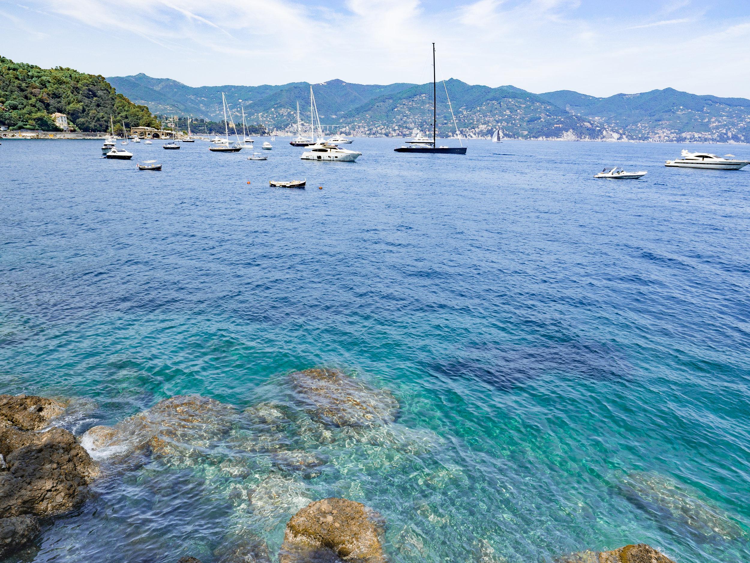 On the edge of S. Margherita, heading into Portofino