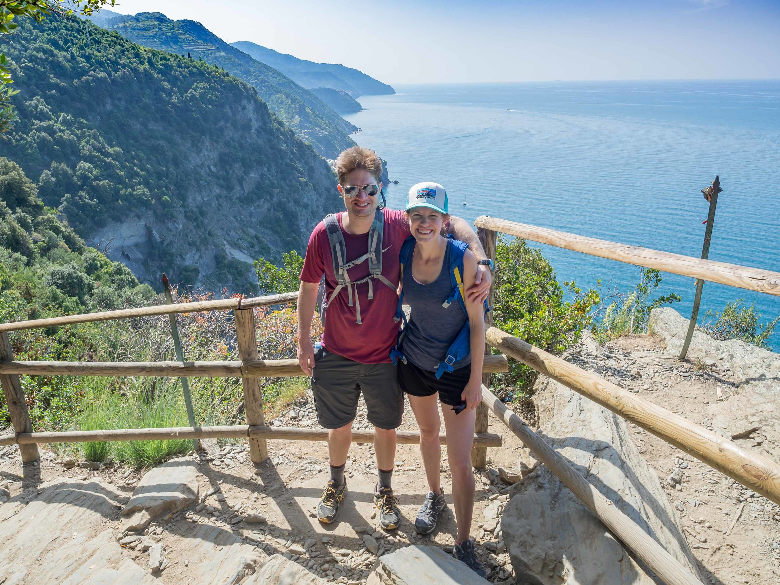 Rob and I hiking in Cinque Terre May of 2016.  Hiking is our jam!
