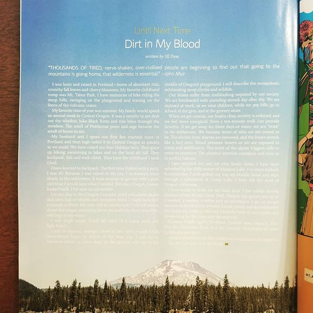 I have an essay featured in this months issue of 1859 Magazine. Check it out to enjoy incredible content about my favorite state.♡ . . . . . #1859magazine  #pct2019  #pct  #backyardbend  #sisterscountry #writersofinstagram  #threesisterswilderness  #camplake  #middlesister  #johnday  #cannonbeachoregon  #portlandia