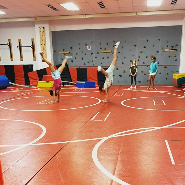 Cartwheeling our way thru gymnastics camp...and always perfecting our learn/play balance!! 😉. #whatareyoudoingthissummer