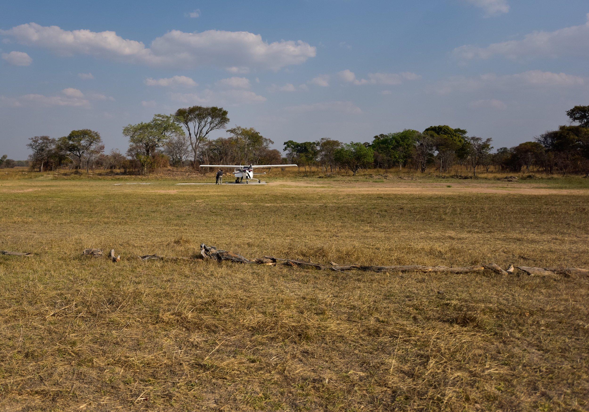 The airstrip near Busanga Bush Camp (BBC).