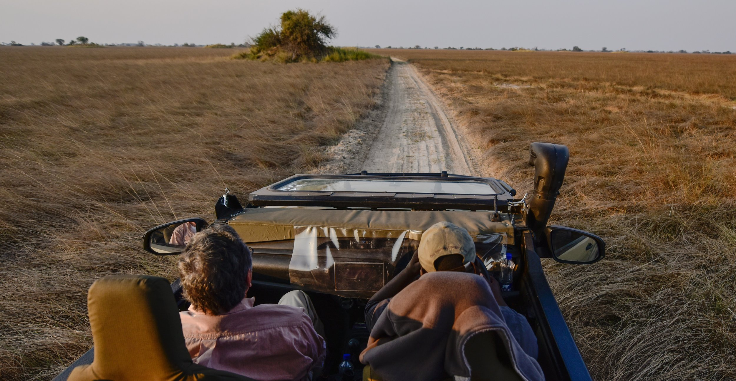 The buggy ride with Bill as navigator. I left out the part where we swatted away the tsetse flies. Painful little buggers...