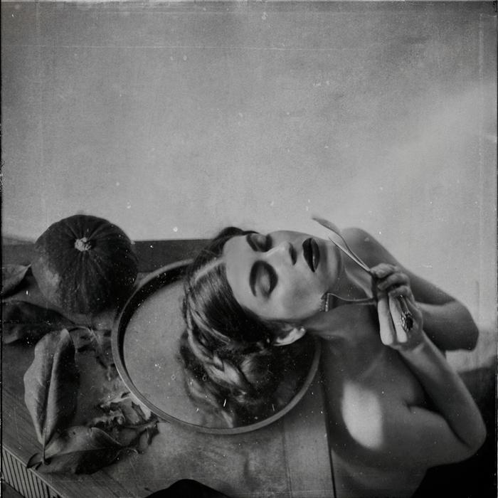 "Angelika Ejtel-  ""  ""  I Want To Feed You With Myself""   (18""x18"") -$650"
