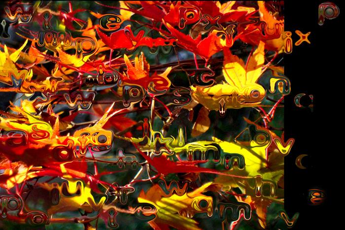 """H. Gay Allen-  """"Leaf Me a Message""""   (17""""x21"""") -$450"""