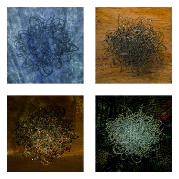 "Wobbe Koning-  ""Elements""-  (15""x15"")  - $2000"