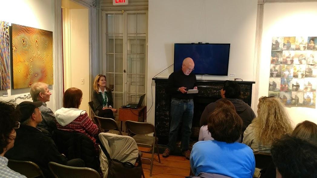 Artists' Talks moderator, Tom Ellman, Professor of Computer Science and Media Studies, Vassar College