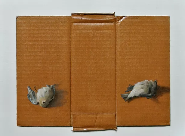 Triptych, Oil on cardboard, 2013