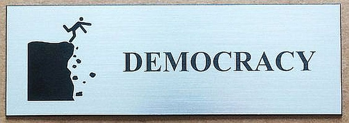 "Jenny E. Balisle -   ""DEMOCRACY""   (3""x9"") -  $325"