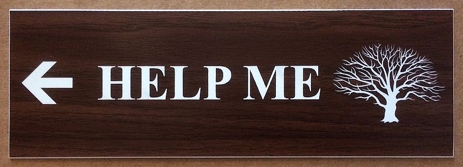 "Jenny E. Balisle -   ""HELP ME""   (3""x9"") -  $325"