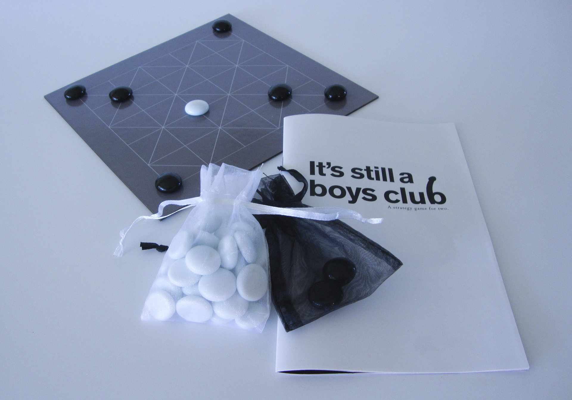 "Theresa Devine -   ""It's Still A Boys Club""   from the series  The World is Flat?  (12""x12x1.5"") -  $28.28"