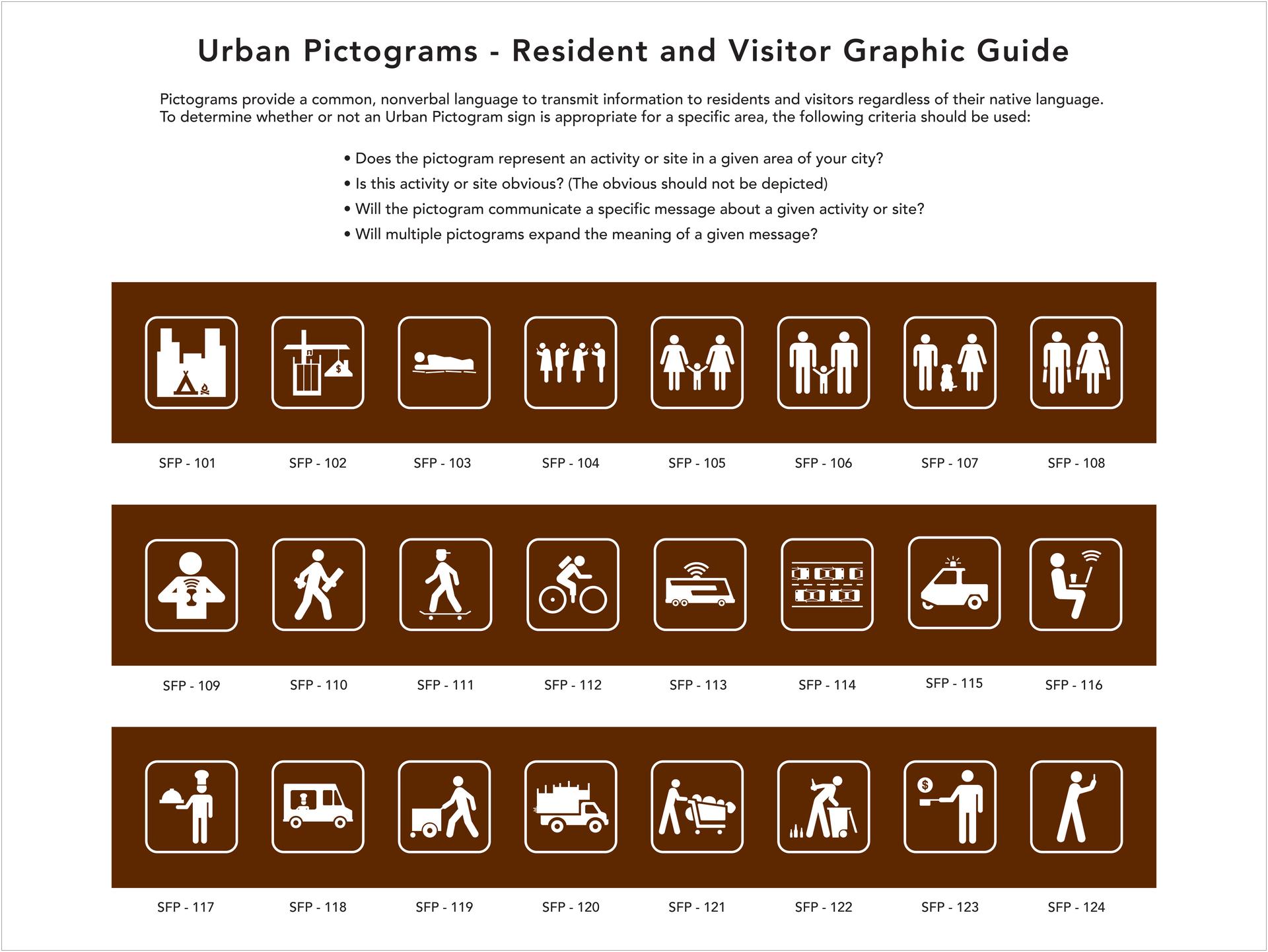 "Michael E. Goldman -   ""Urban Pictograms- A Graphic Guide""   (10""x10"") -  $275"