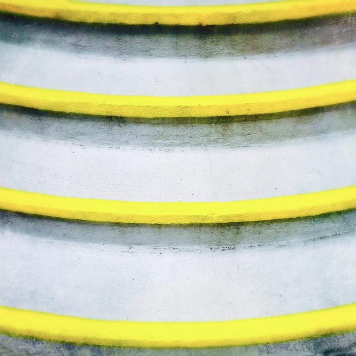 "McCormick Brubaker -   "" Yellow Steps ""   (17""x 17"")  $900"