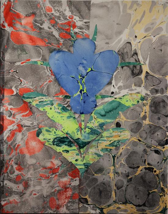 """Ryan Leitner   - """" History doesnt repeat itself, but it does rhyme (flower) """"   (33""""x 26"""") -  $3000"""