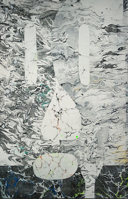 """Ryan Leitner   - """" History doesnt repeat itself, but it does rhyme (Face) """"   (33""""x 26"""") -  $3000"""