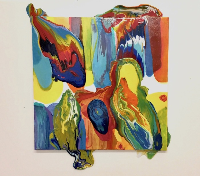 "Sandi Neiman Lovitz   - "" Plumes on the Fringe ""   (30""x 25"") -  $2500"