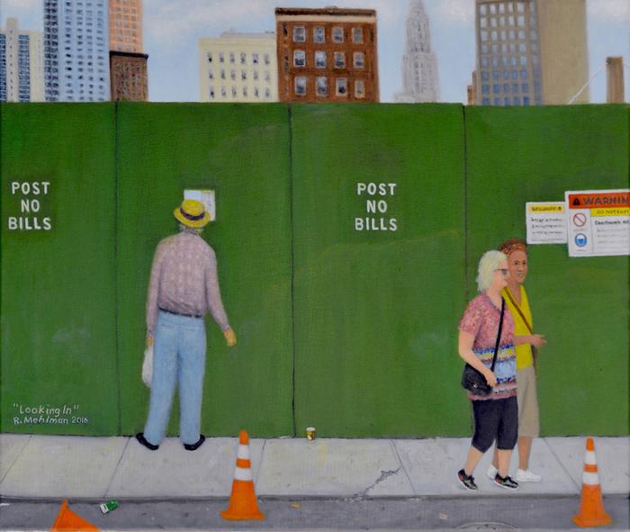 "Russell Mehlman   -  ""Looking In ""   (20""x 24"") -  $3000"