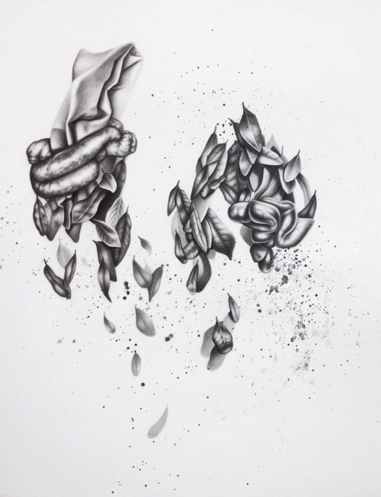 """Lauren Yandell   - """" In Knots """"   (18""""x 22"""") -  $1800"""