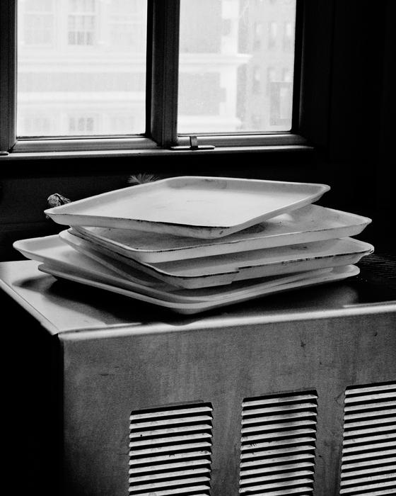 "Sasha Louis Bush -  ""Paper Plates, The Neighborhood School, East Village, NY""  (11"" x 14"" ) -  $300  EDITION: 1/3"