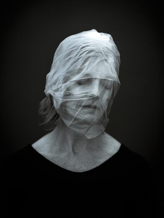 """Susan Seubert -  """"Asphyxiation #8""""  (40"""" x 30"""") -  $4000"""
