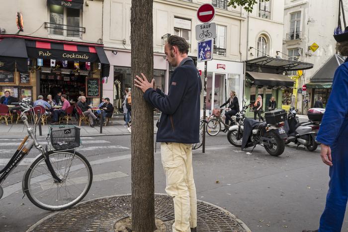 """Allen Wheatcroft -  """"St Germain, Paris""""  (14"""" x 21"""") -  $500"""