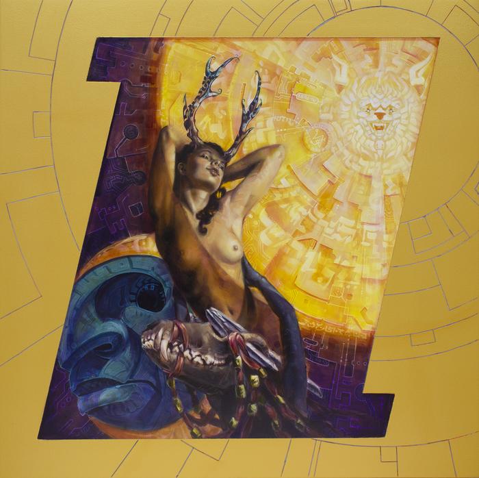 """Dan Cohen -  """"Sun Worship""""  (30"""" x 30"""") -  $3600"""