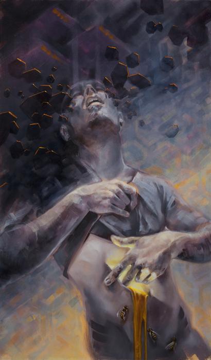 "Dan Cohen -  ""Wound Work (Sunshine & Honey)""  (14"" x 24"") -  $2800"