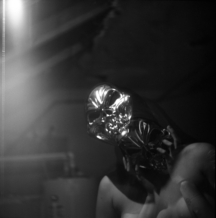 "Elisabeth Ciaccio -  ""Mask I,"" 2015  (12"" x 12"") - $300"