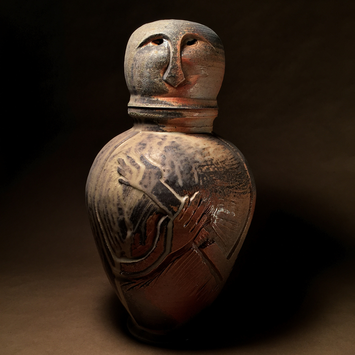 "Auguste Elder -  ""Canopic Urn: Grace""  (14"" x 8"" x 8"") - NFS"