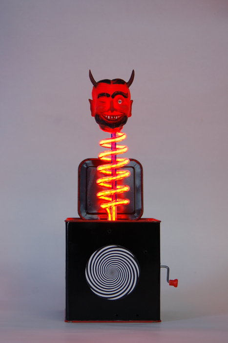 """Eve Hoyt- """"Devil May Care""""  (12""""x 6"""" x 6"""") -  $75  0"""
