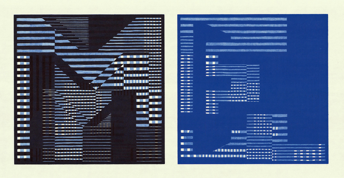"J.L. Abraham -  ""ME/Blue"" (12"" x 25"") -  $850"