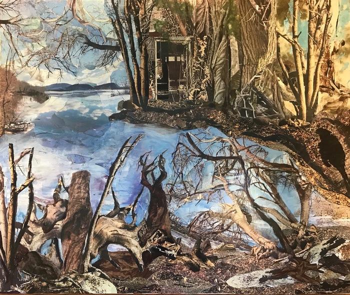 "Tina Bernstein-  ""Rambling and Rooting Along the Hudson"" (20"" x 24"") -  $750"