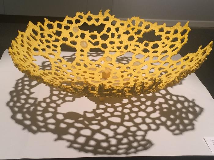 """Lian Brehm -  """"Casa Amarillo""""  (48"""" x 48"""" x 10"""") - $2800"""