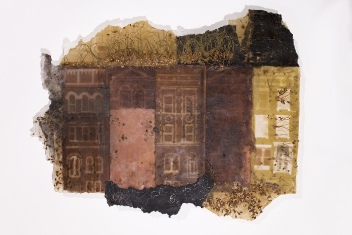"""Michele Brody-  """"Harlem Roots: Hill Top Sample"""" (18"""" x 28"""" x 1"""") -  $1800"""