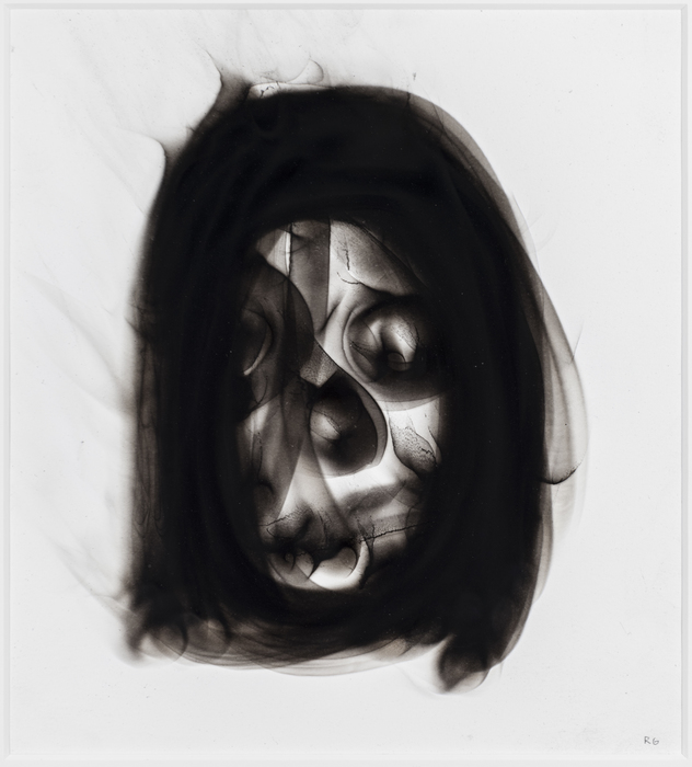 "Ronald Gonzalez-  ""Black Flame Drawing Head"" (18"" x 17"") -  $1500"