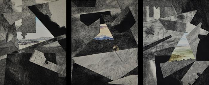 "Leah Lewman-  ""Nature Adjacent"" (13.25"" x 24"" x 1.5"") -  $910"