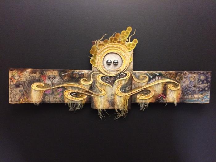 """Jonathan Barrios-  """"Golden Goddess"""" (17"""" x 7"""") -  $1200"""