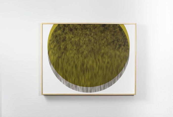 """Evan Ishmael  """"Good Food""""  (18"""" x 24"""") Soot and Spray Applied Acrylic-  $600"""