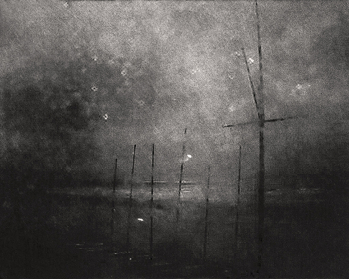 "Marcus DeSieno  ""47.366670,8.550000""  (16"" x 20"") Archival Pigment Print of a Still from Surveillance Camera -  $1000"